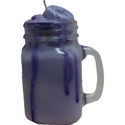 Blueberry Ripple Mason Jar Soy Wax Candle
